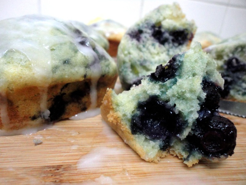 lemon-glaced blueberry muffin 1